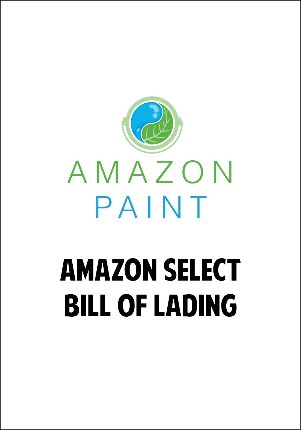Amazon Select Bill of Lading